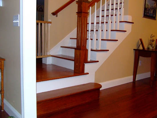 Custom Stairs Brazilian Cherry Staircase