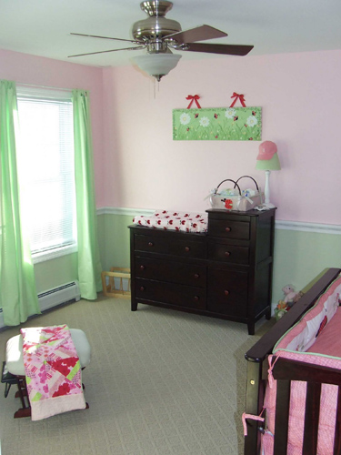 Baby Girl Nursery With Chair Rail Home Construction