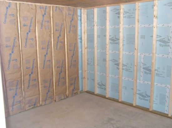 Building A Basement Storage Room With Built-In Shelving