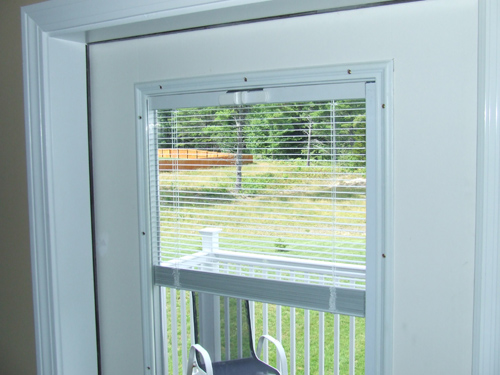 French Door Blinds Between Gl