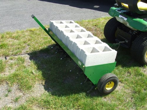 John Deere Core Aerator With Concrete Weights