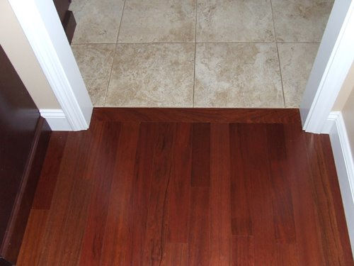 Hardwood To Tile Transition How To Make The Transition - Hardwood floor patio door transition