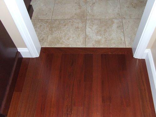 Transition Between Bathroom Floor Doorway And Carpet