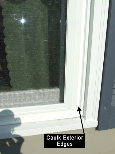 Caulk Glass Window