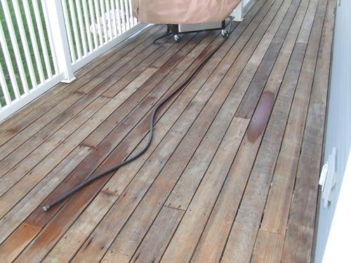 Deck After Pressure Washing
