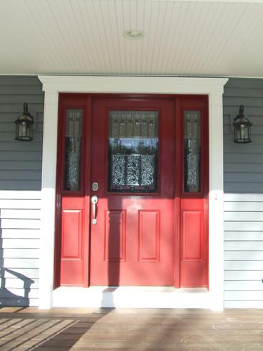 Front Entry Door With Fypon Door Trim Kit Home Construction