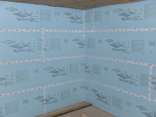 Foam Board Sealed With Tyvek Tape Home Construction