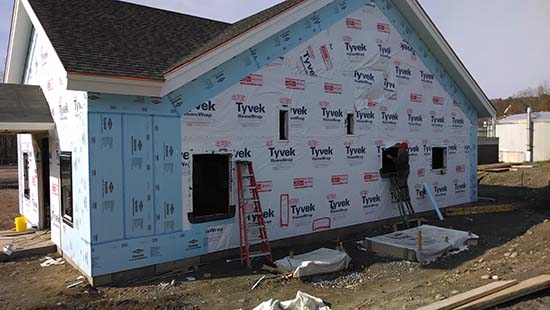 Installing Exterior Rigid Foam Board Insulation Over Tyvek House Wrap