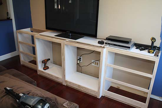 Installing Cabinet Face Frames Embling Lower Cabinets