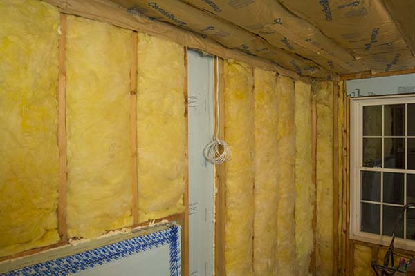 Basement Walk Out Framed Wall Insulated With Dow Foam