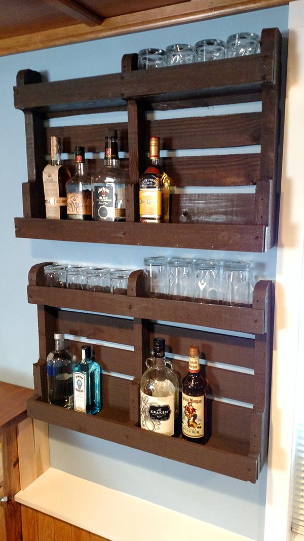 Pallet Wood Liquor Cabinet For Bar Home Construction